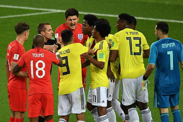 Voti Colombia-Inghilterra