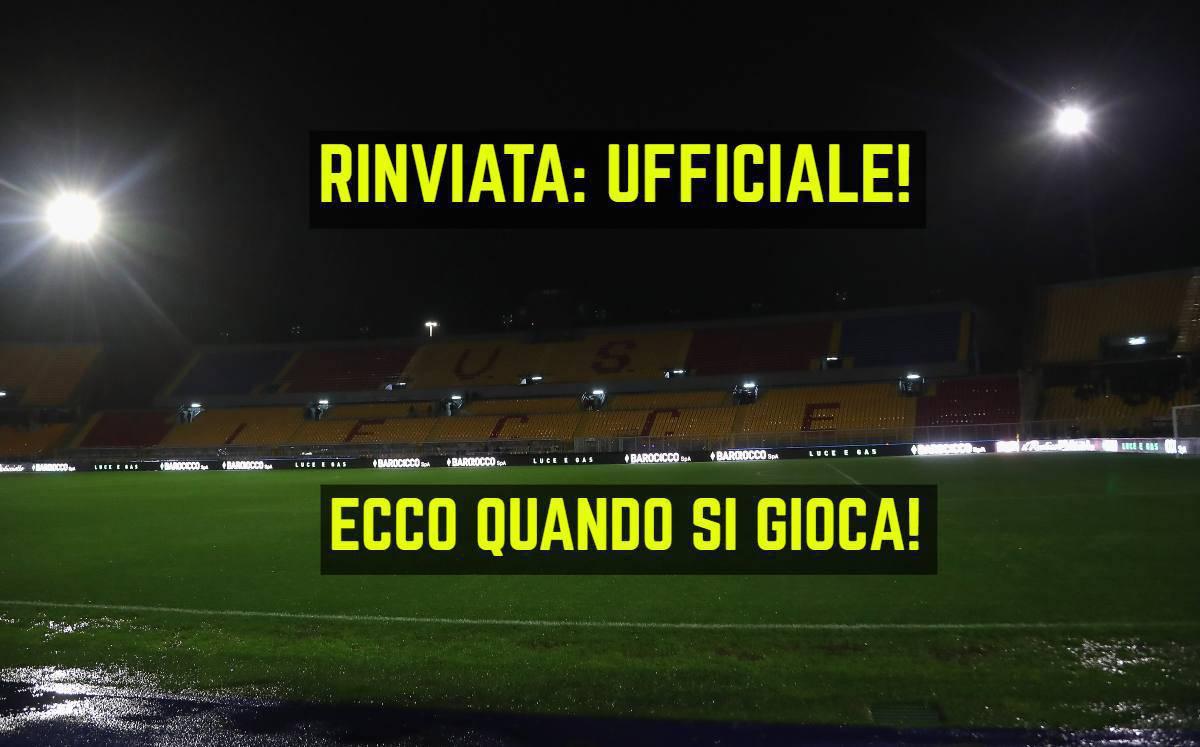 Rinvio Lecce-Cagliari