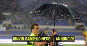 Rinvio Sampdoria-Udinese