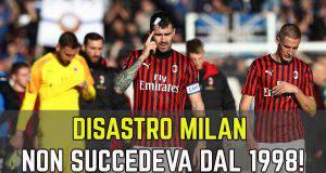 Milan statistica disastrosa