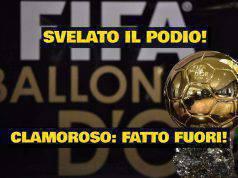 Pallone d'oro podio