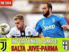 Infortunio Juve Parma