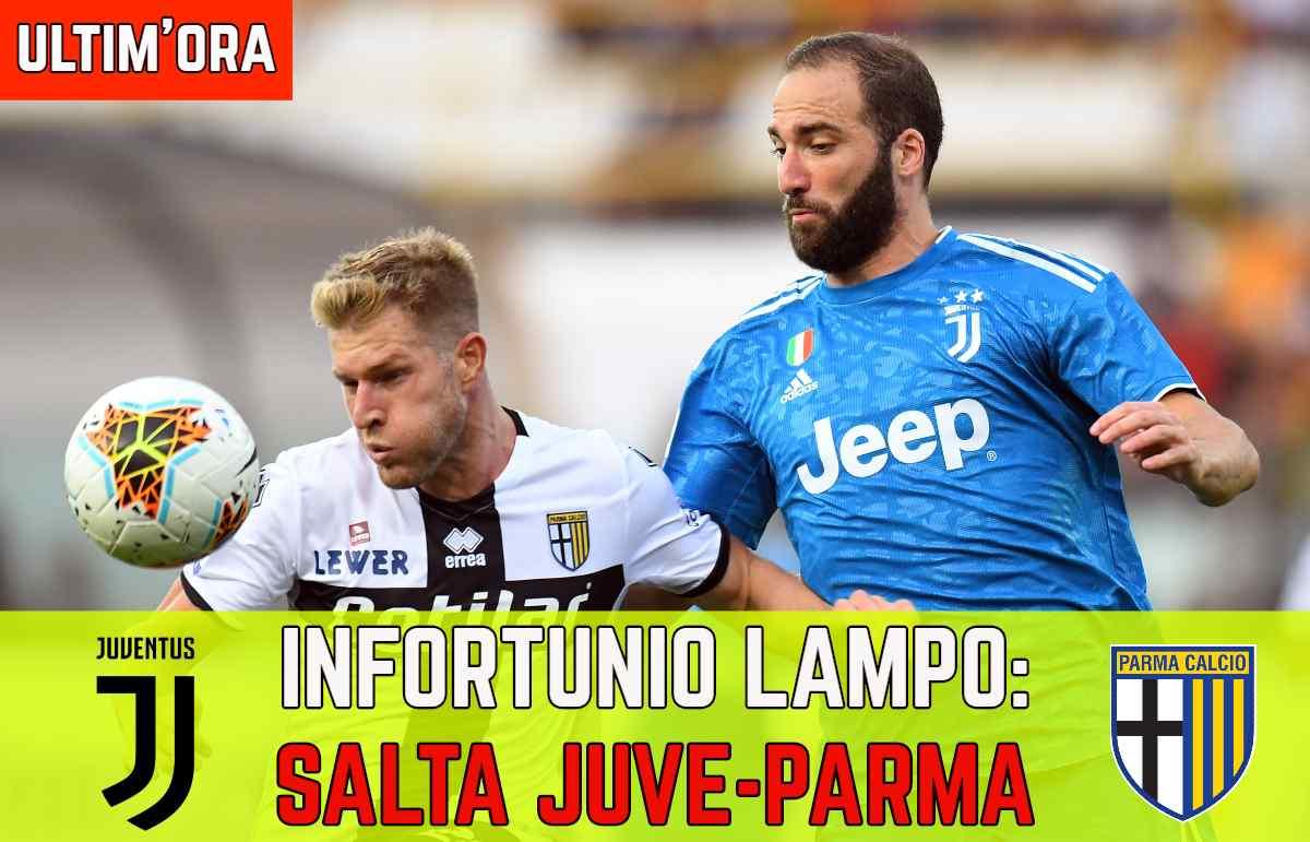 Infortunio Juve Parma