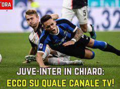 Juventus Inter in chiaro
