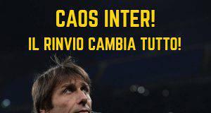 Rinvio Juventus-Inter