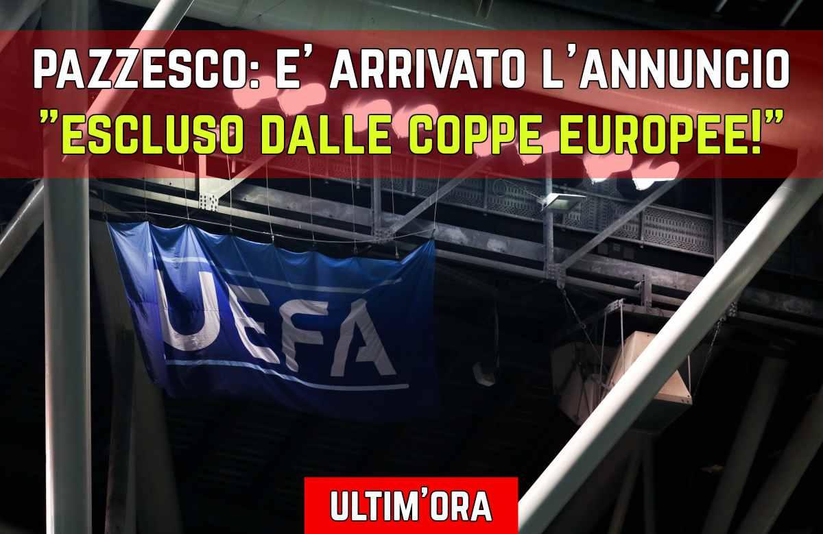 Escluso dalle Coppe Uefa