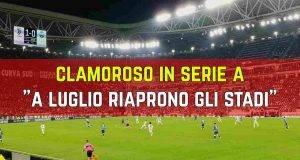 Riaprono stadi Serie A