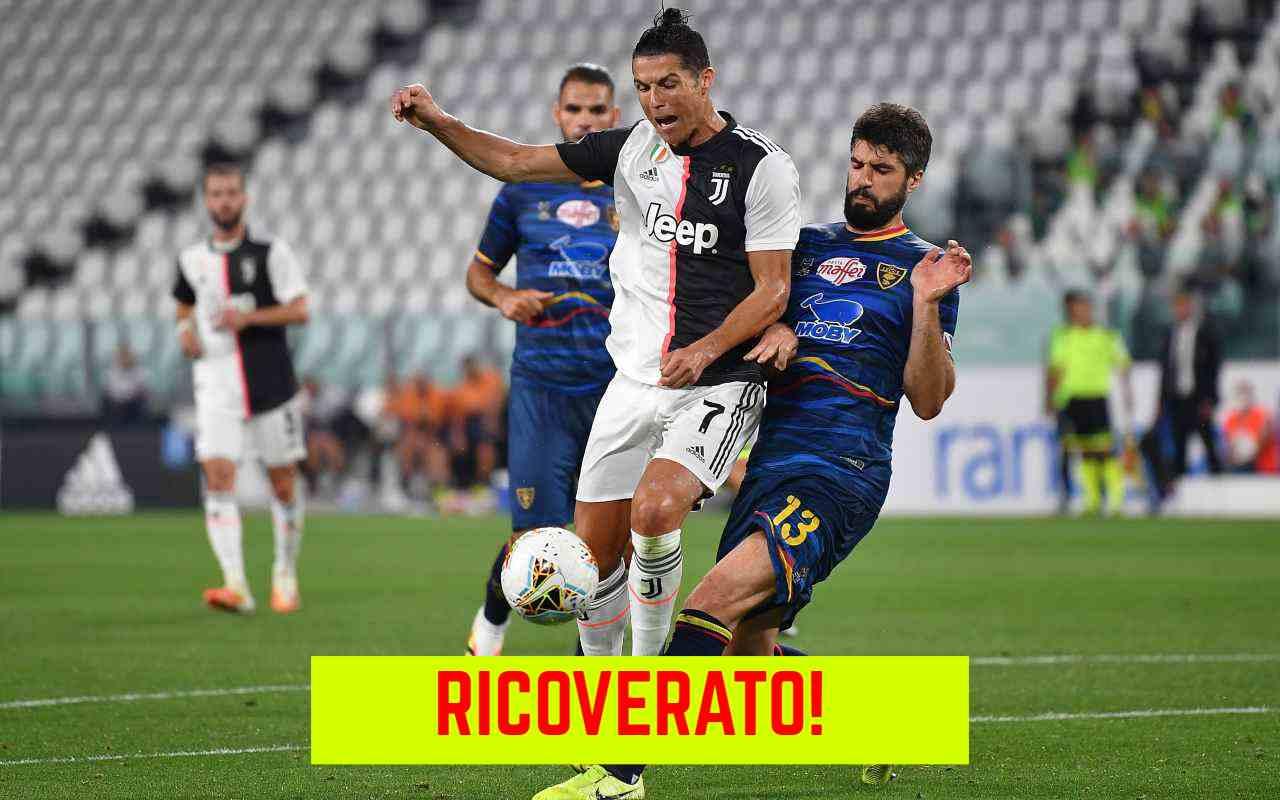 Lecce, persiste febbre, il difensore Rossettini in ospedale ma non è Covid