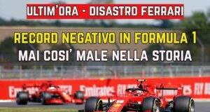 Ferrari disastro Formula 1
