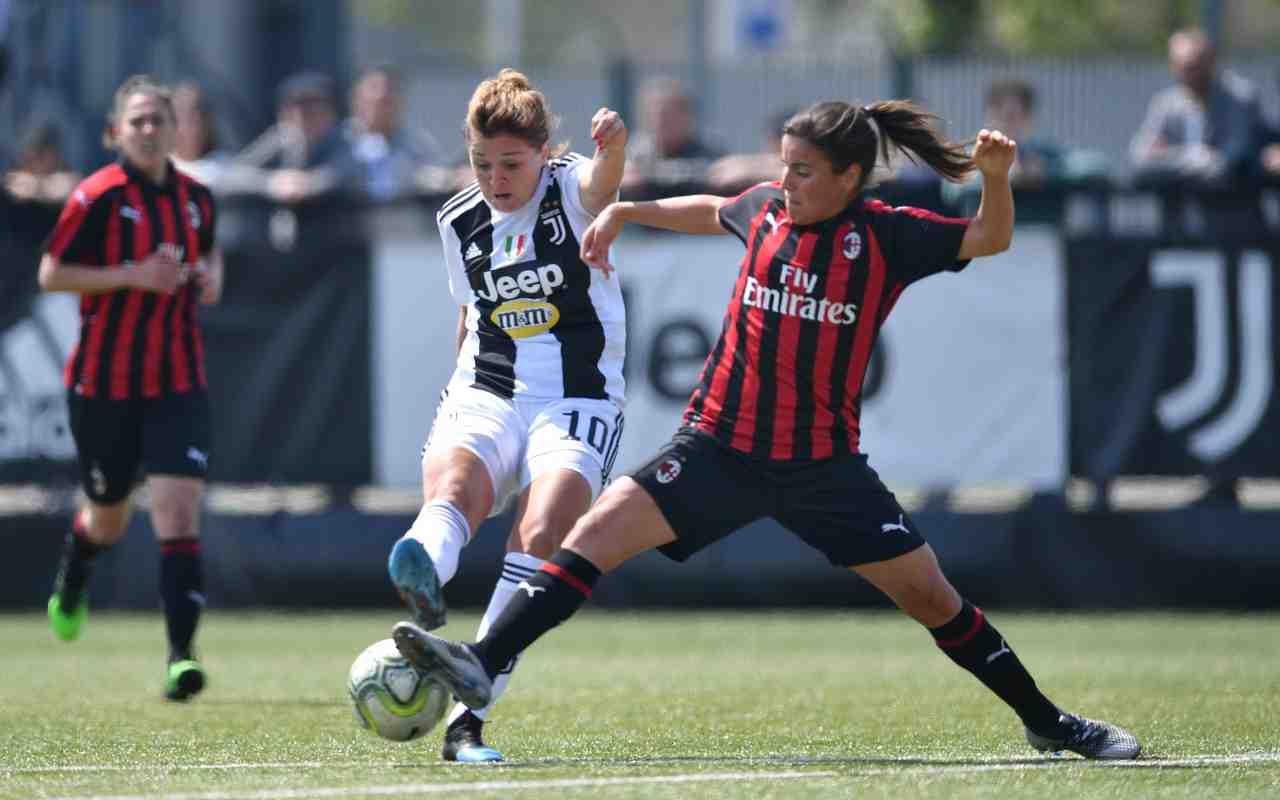 Juventus Milan femminile streaming