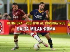 Milan Roma positivo Coronavirus