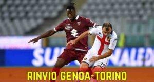 Rinvio Genoa Torino