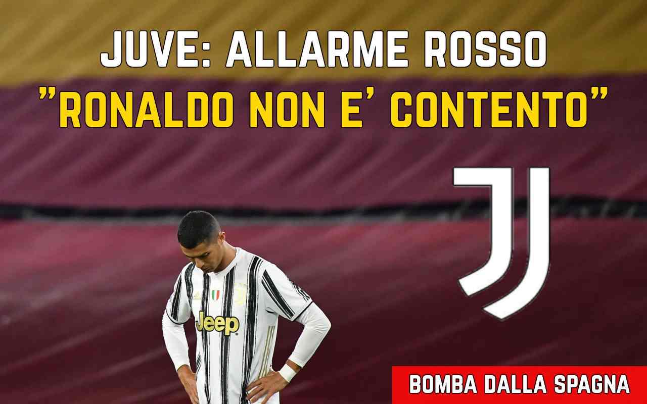 Ronaldo non è contento Juventus