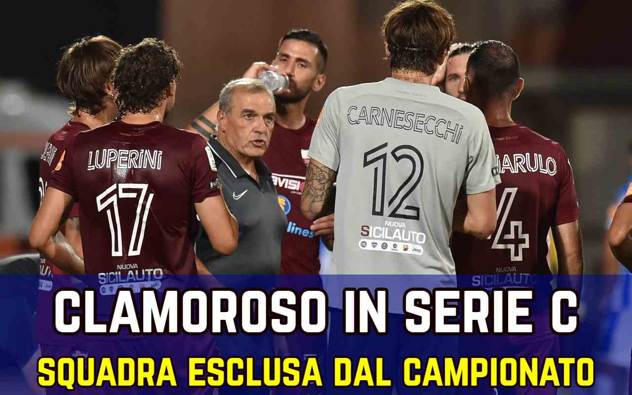 Serie C esclusi campionato
