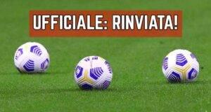 Serie B rinviata
