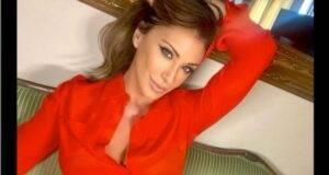 Sabrina Salerno in rosso