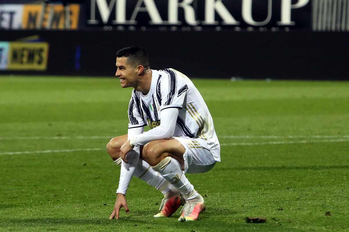 Cristiano Ronaldo finisce ko, niente Atalanta