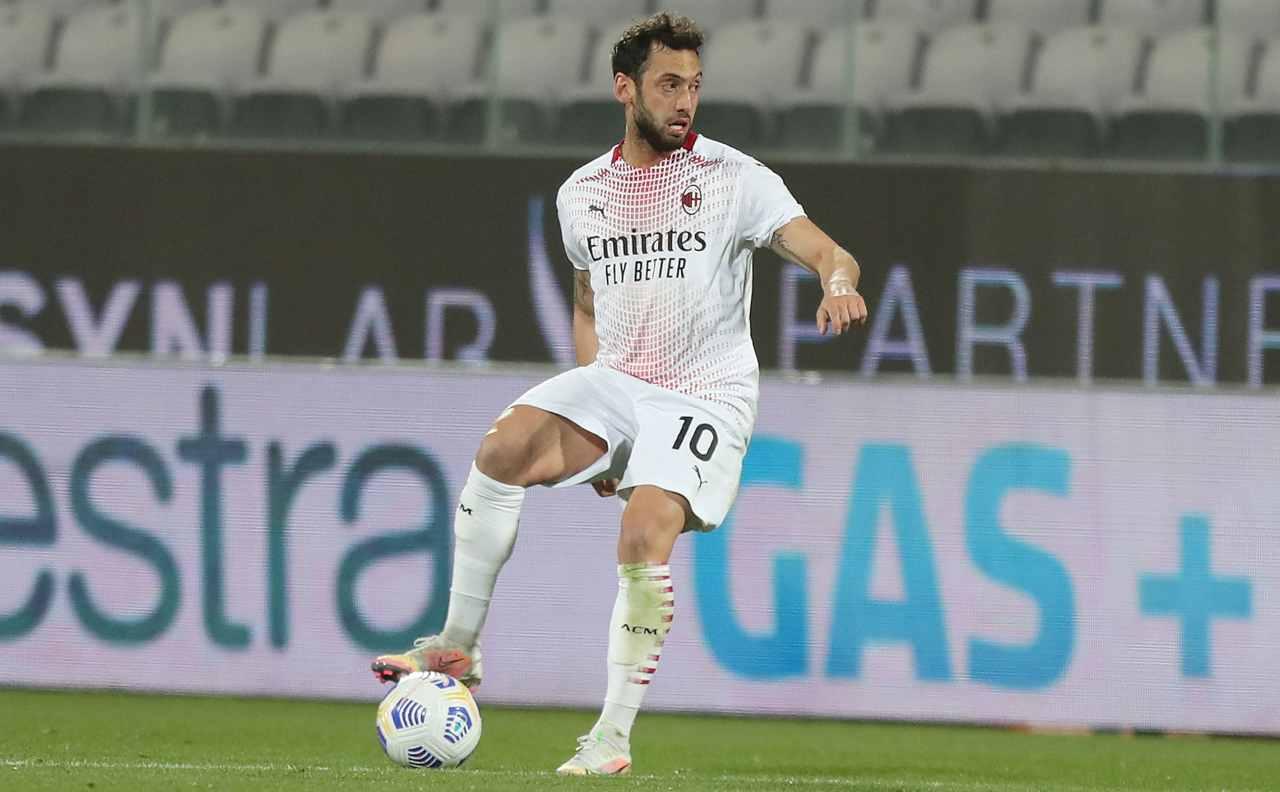 Tradimento Calhanoglu Milan Inter parametro zero