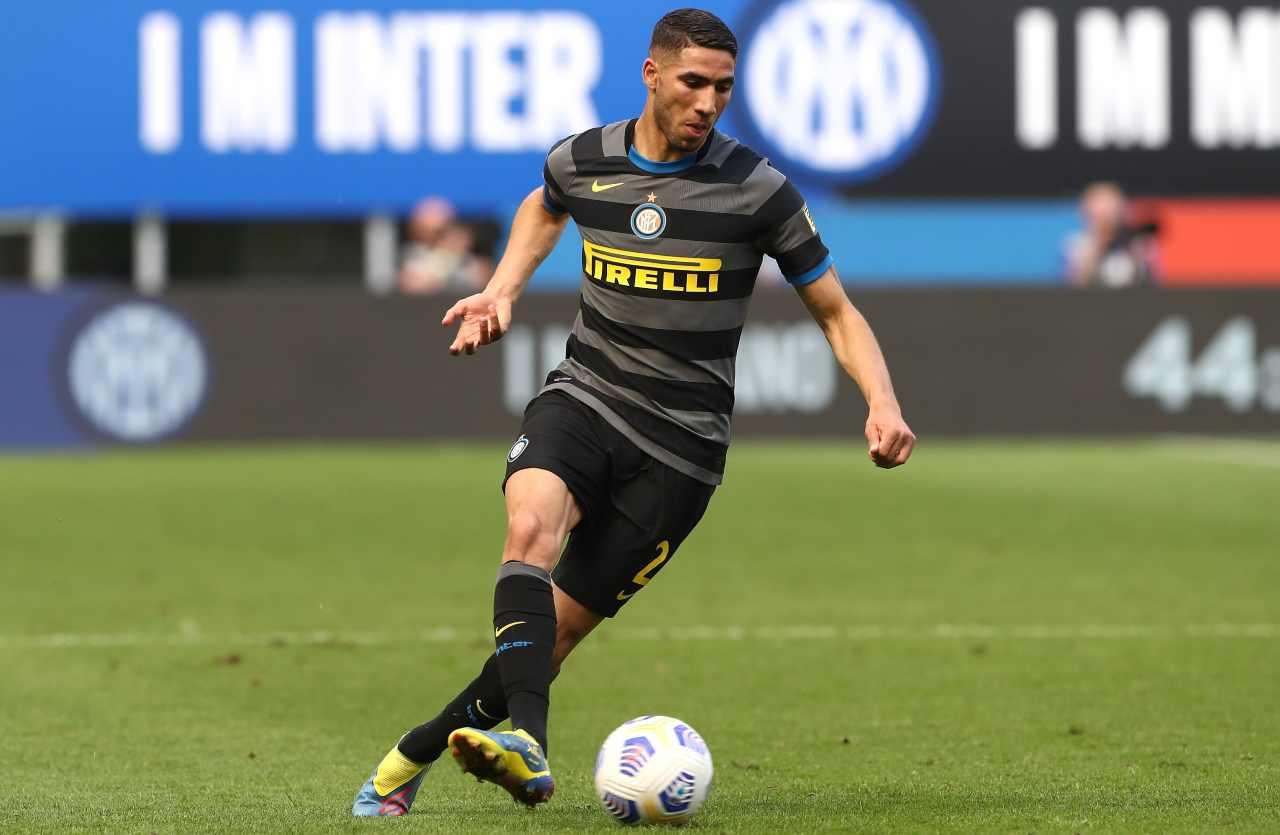Inter cessione Hakimi vicina doppia offerta Chelsea 50 milioni Marcos Alonso Zappacosta