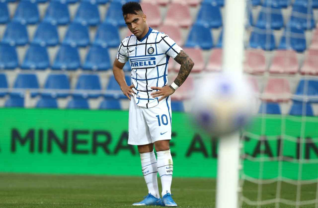 Inter svolta Lautaro Martinez Raspadori Sassuolo