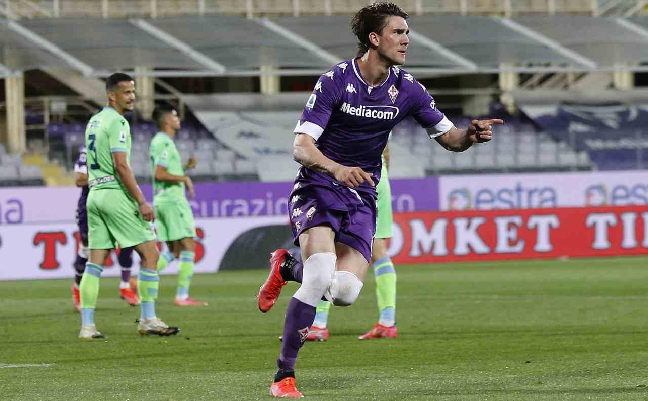 Calciomercato Juventus addio Morata Vlahovic 80 milioni